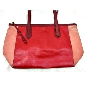 Fossil Colorblock Sydney Shopper Tote Bag